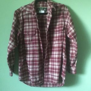 NWOT field&stream maroon thick flannel size medium